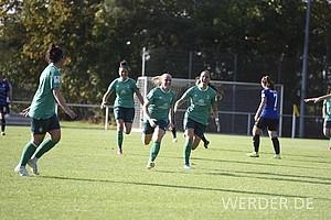Beim 3:2-Auswärtssieg in Bielefeld schoss sie die Grün-Weißen mit einem Dreierpack allein zum Sieg.
