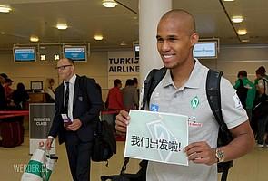 Neben Österreich und Süddeutschland verschlug es den Verteidiger im Rahmen der Vorbereitung mit Werder auch schon mal nach China (Foto: nordphoto).