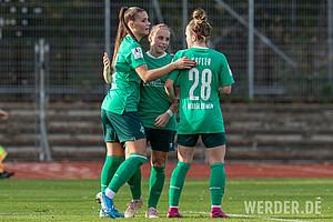 Ihren letzten Treffer im Werder-Trikot erzielte sie beim 8:1-Erfolg gegen Turbine Potsdam II. Mit 99 Toren ist sie Werders Rekordtorschützin.